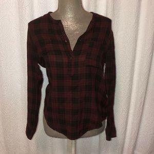 Isabel marant E'toile cotton plaid blouse, size 38
